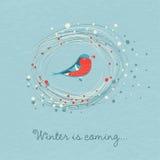 L'hiver d'illustration de vecteur vient Photo stock