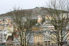 L'hiver dans Karlovy varient Images libres de droits