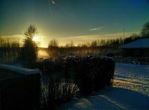 L'hiver dans Læsø est impressionnant Images stock