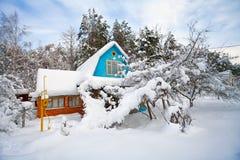 L'hiver dans la campagne Photo stock
