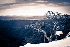L'hiver dans le haut pays image libre de droits
