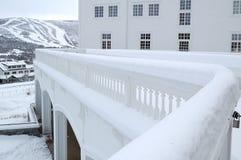 L'hiver dans le pays nordique Photographie stock