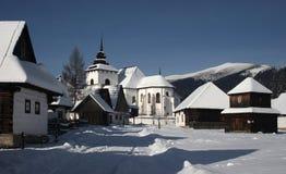 L'hiver dans le village Photos stock