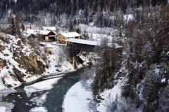 L'hiver dans les alpes Images libres de droits