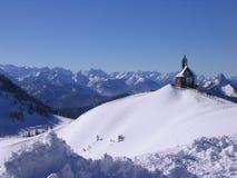 L'hiver dans les Alpes photographie stock libre de droits