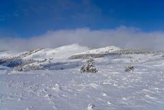 L'hiver dans les montagnes Photographie stock libre de droits
