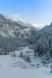 L'hiver dans les montagnes Images libres de droits