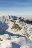 L'hiver dans les montagnes Photographie stock