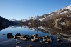 L'hiver dans Snowdonia Images stock