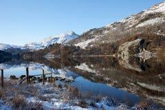 L'hiver dans Snowdonia Photos stock