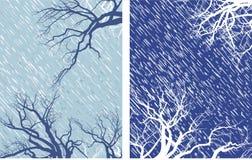 l'hiver de 2 humeurs Illustration de Vecteur