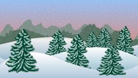 l'hiver de blanc de l'Espagne de montagne d'horizontal de fond Photo stock