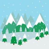 l'hiver de blanc de l'Espagne de montagne d'horizontal de fond Image libre de droits