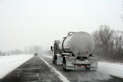 l'hiver de camion de tempête d'omnibus Photos stock