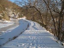L'hiver de canal de C&O Photos libres de droits