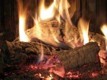 l'hiver de cheminée Photo stock