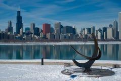 L'hiver de Chicago images libres de droits