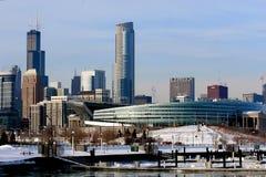 l'hiver de Chicago Photos libres de droits