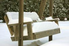l'hiver de chutes de neige Photos libres de droits