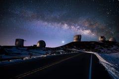 l'hiver de ciel de nuit Image stock