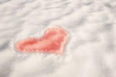 l'hiver de coeur Images libres de droits