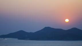 l'hiver de coucher du soleil images libres de droits