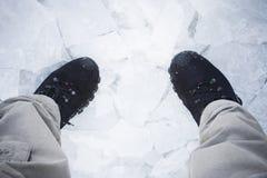 l'hiver de course Image stock