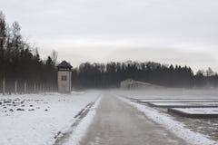 L'hiver de dachau de camp de concentration Photographie stock libre de droits