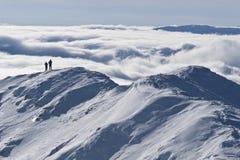 L'hiver de dessus de montagne Images libres de droits