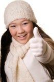 l'hiver de fille Photo libre de droits