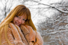 l'hiver de fille Photo stock