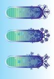 l'hiver de flocon de neige d'affiche Photo libre de droits
