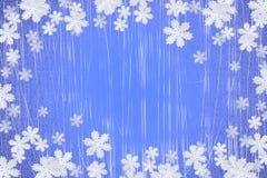 l'hiver de flocon de neige de fond Image libre de droits