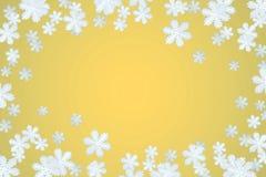 l'hiver de flocon de neige de fond Images stock