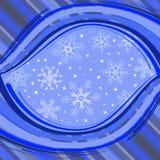 l'hiver de flocons de neige de drapeau illustration libre de droits