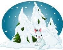 l'hiver de forêt illustration stock