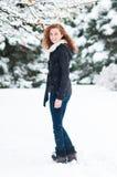 L'hiver de l'adolescence Image libre de droits