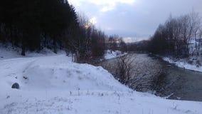 l'hiver de la Roumanie Photos libres de droits