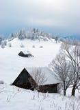 l'hiver de la Roumanie Image libre de droits