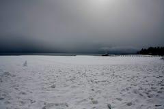 L'hiver de Lake Tahoe Image libre de droits