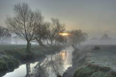 l'hiver de lever de soleil Photographie stock libre de droits