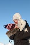 l'hiver de mère de descendant Photographie stock