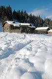 l'hiver de maison Image stock