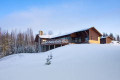 l'hiver de maison photographie stock