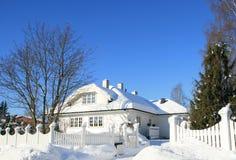 l'hiver de maison Photo stock