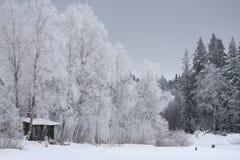 l'hiver de maison Images libres de droits