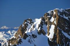 l'hiver de montagne Photographie stock libre de droits