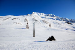 l'hiver de montagne d'horizontal photographie stock libre de droits