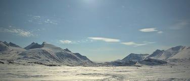 l'hiver de montagne de la Laponie Photos stock