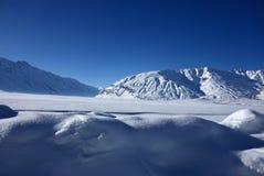 l'hiver de montagnes de l'Himalaya Image libre de droits
